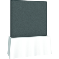 Orbus 6ft Coyote Square tabletop display with straight frame full fabric