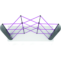 Orbus 8ft Coyote Curved Table Top Popup Kit with front graphics, fabric end caps