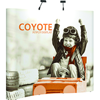 Orbus 8ft Coyote Serpentine Popup Kit with full graphics
