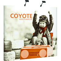 Orbus 8ft Coyote Curved Popup Kit with full graphics