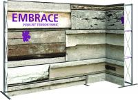 Orbus Embrace Right L-Shape Trade Show Hopup Inline Display