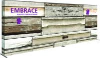 8'x3' Orbus Embrace Full fitted Graphic with End Caps Trade Show Display