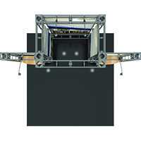 Eros 10ft Orbital Express Truss Exhibit Kit with optional custom printed graphics