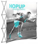 View: 8' Wide Hop Up Curved Front Fabric Display