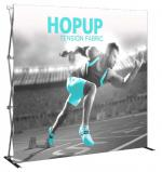 View: 8' Wide Hop Up Straight Display with Front Fabric Graphics
