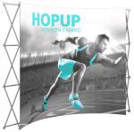 View: 10' Wide Hop Up Curved Front Fabric Display