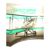 HopUp 10ft Tension fabric Curved Display with Backlighting