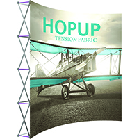 4' x 4' Orbus Extra Tall HopUp Exhibit Graphic and Hardware