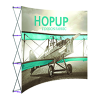 10ft 4x3' Curved HopUp Front Graphic Display Kit