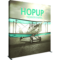 4' x 4' HopUp Tension Fabric Displays with end caps