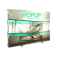 10ft HopUp Trade Show style display with front custom printed graphics