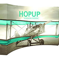 5x3' Curved Full Height Graphic Display