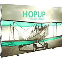 View: 15' w (6X3) Hop Up Display Replacement Fabric Graphics