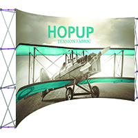 15ft HopUp Curved Front Graphic Display