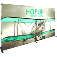 15ft HopUp Trade Show Display with front graphics
