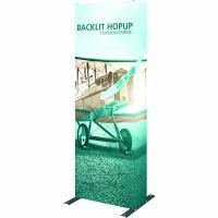 1X3 Hop Up Back lighted Fabric Tower Display
