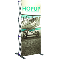 "1x3, 30"" Trade Show Hop Up tower display"
