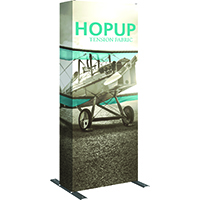 2point5 Orbus Hopup tension fabric tower for exhibits
