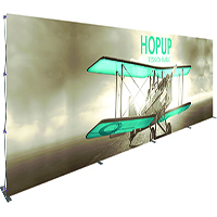 Orbus 30ft Hopup tension fabric wall with front graphic, no end caps