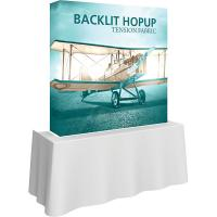 Orbus Hopup 5ft Backlit Straight Tabletop Tension Fabric Display