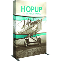 5' x 8' hopup tension fabric display for trade shows