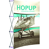 5ft HopUp Front Graphic Tension Fabric Display for Trade Shows
