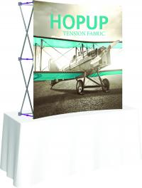 Curved table top displays for Trade Shows