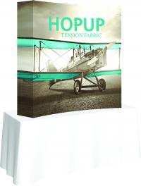 View: 5.5' Hopup Tabletop Curved Full Fabric Display