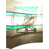 Backlit HopUp Curved Tension Fabric Displays with end caps