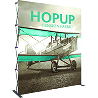 Orbus 8ft x 10ft Extra Tall Hopup Trade Show display