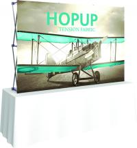 View: Hop Up 8' Wide Table Top Display Replacement Fabric Graphics