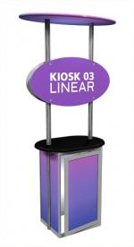 View: Linear Large Display Kiosk Kit 03