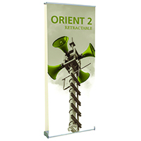 Orbus Orient 2 800 Retractable Banner Stand with Double Sided Graphics