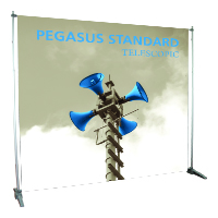 Orbus Pegasus adjustable banner stand