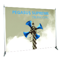 Orbus Pegasus telescoping banner system