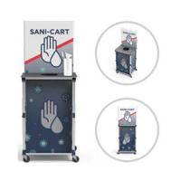 View: Portable PopUp Sani-Cart Mini