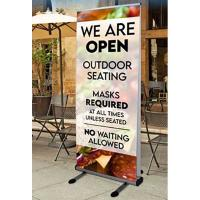 Orbus Thunder Double Sided Outdoor Retractable Banner Stand