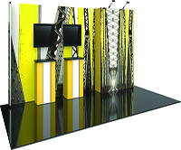 20ft Master Backlit Side Wall with Exhibit display