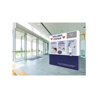 Orbus Wellness Station sanitizing and temperature check stand