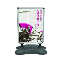 Orbus Whirlwind display with front-loading graphics