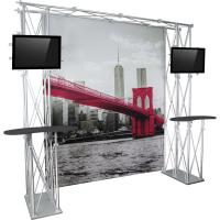 Orbus Orbital Express Construo 10x10 Truss Displays with Full Graphics