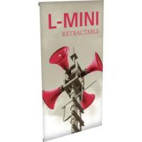 Orbus L-Mini 1x2 Tabletop banner stand